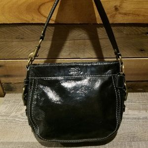 EUC Coach Mini Patent Leather Shoulder Handbag
